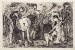 noche en macondo, 50 x 25 cm, etching on metal, 25 copies